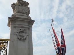 Australia post outside Buckingham Palace